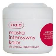 Маска «Интенсивный уход» для окрашенных волос с касторовым маслом Ziaja, 200 мл
