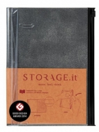 Блокнот STORAGE.it Denim M (B6+) Черный, 1 шт.