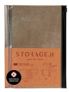 Блокнот STORAGE.it Denim М (B6+) Беж, 1 шт.